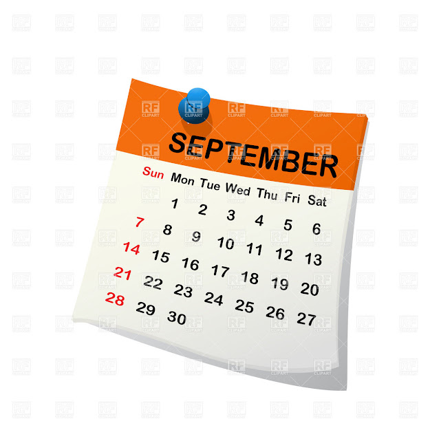 September  Month Calendar Click To Zoom