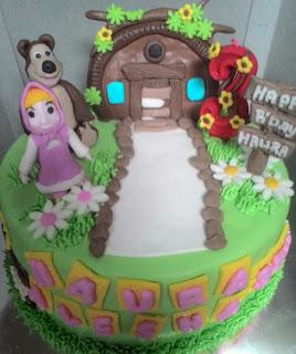 kue ulang tahun masha di toko kue yasmin padang
