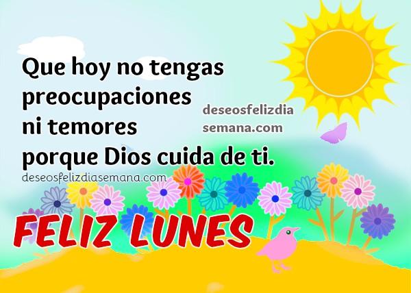 Imágenes de feliz lunes con frases cristianas bonitas, mensajes para facebook del lunes por Mery Bracho