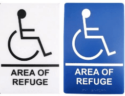 two-way communication area of refuge sign