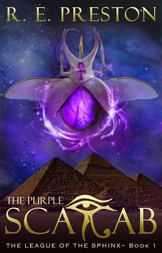 Exclusive Cover Reveal and Excerpt from  The League of the Sphinx: The Purple Scarab by R. E. Preston