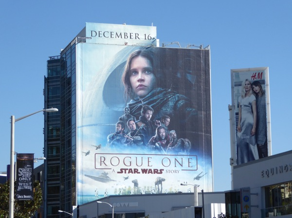 Giant Rogue One Star Wars movie billboard