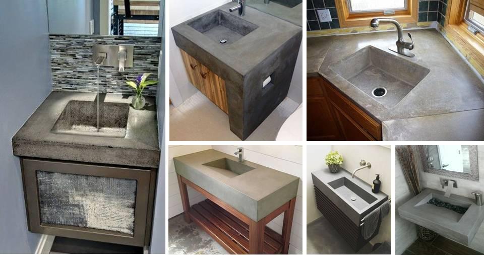 concrete bathroom sink forms artcomcrea