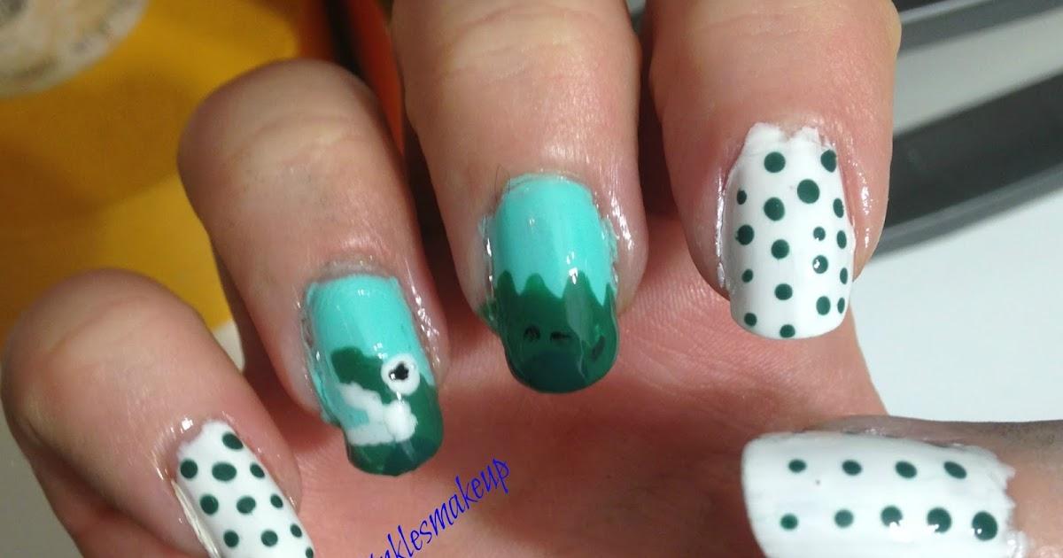 tinklesmakeup crocodile nail art