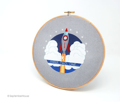 Rocket Embroidery Pattern Space patterns for hand embroidery SeptemberHouse
