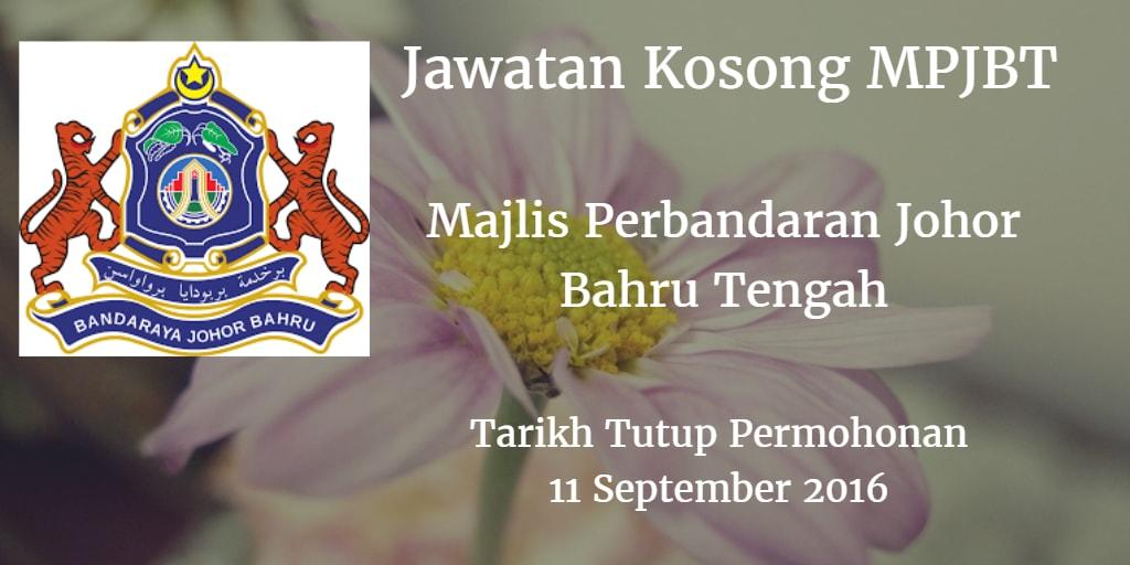 Jawatan Kosong MPJBT 11 September 2016