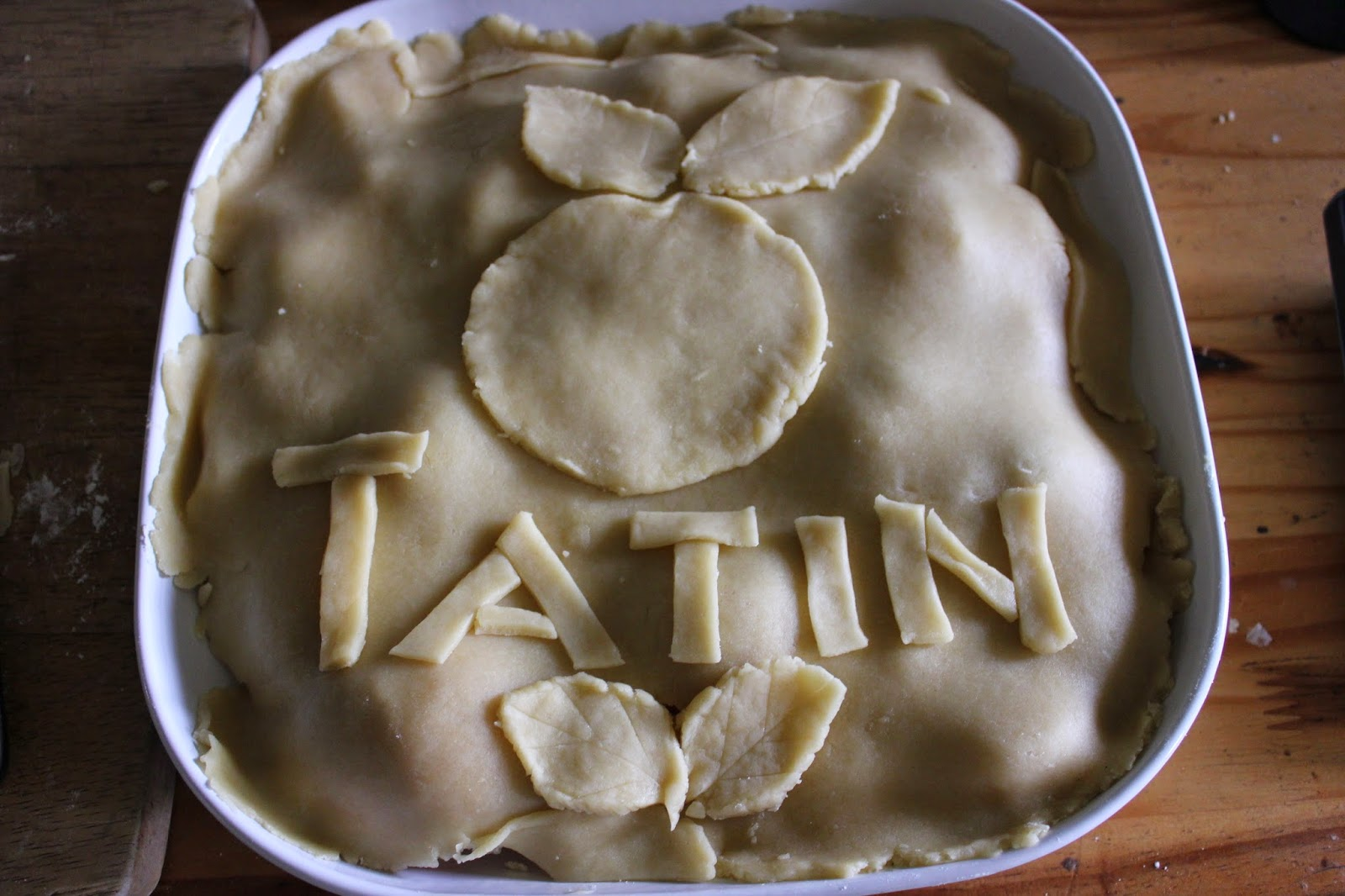 Tarte Tatin organic recipe decorating tart