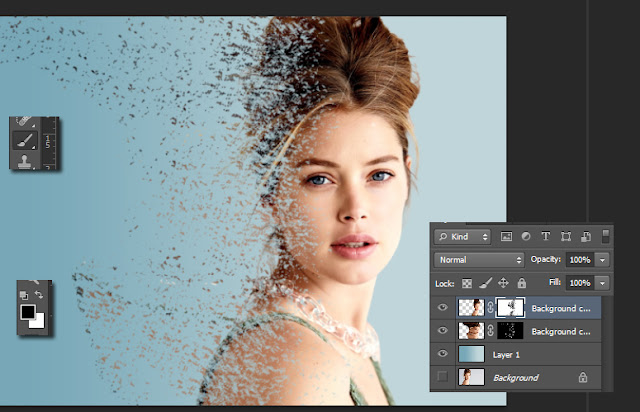efek dispersion photoshop