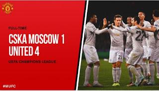 Manchester United Hajar CSKA Moscow 4-1, Lukaku Dua Gol