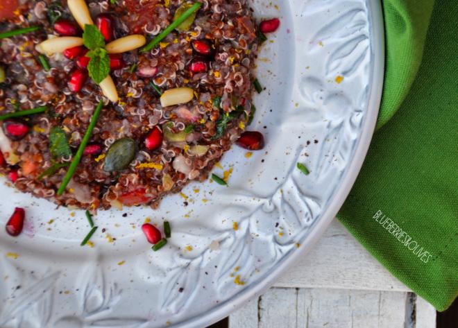 Tabulé de quinoa y granada 5