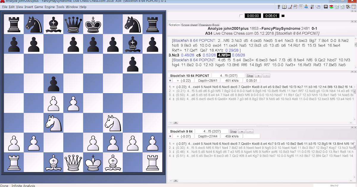 Chess Player at Large: Stockfish 10 vs  Stockfish 9