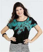 Moda Blusa Feminina Estampa Folhas Marisa