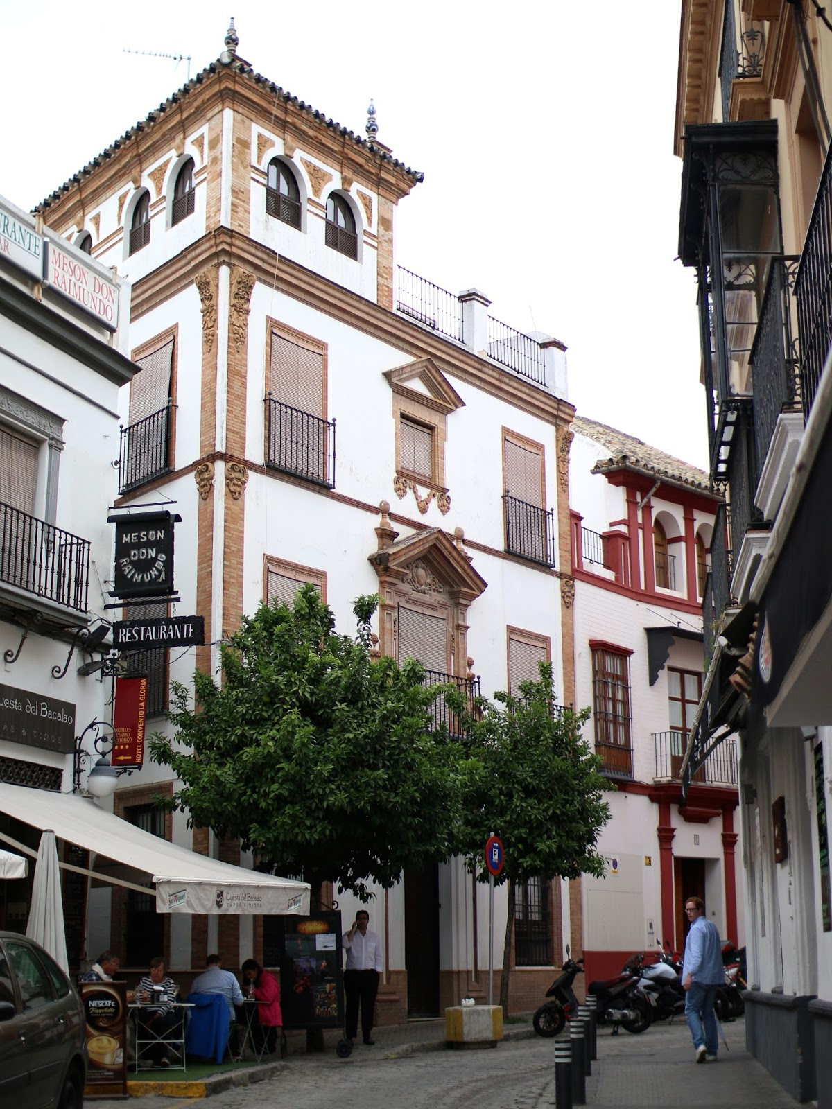 white buildings in seville