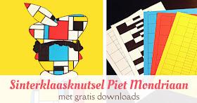 Sinterklaas knutselen Piet Mondriaan