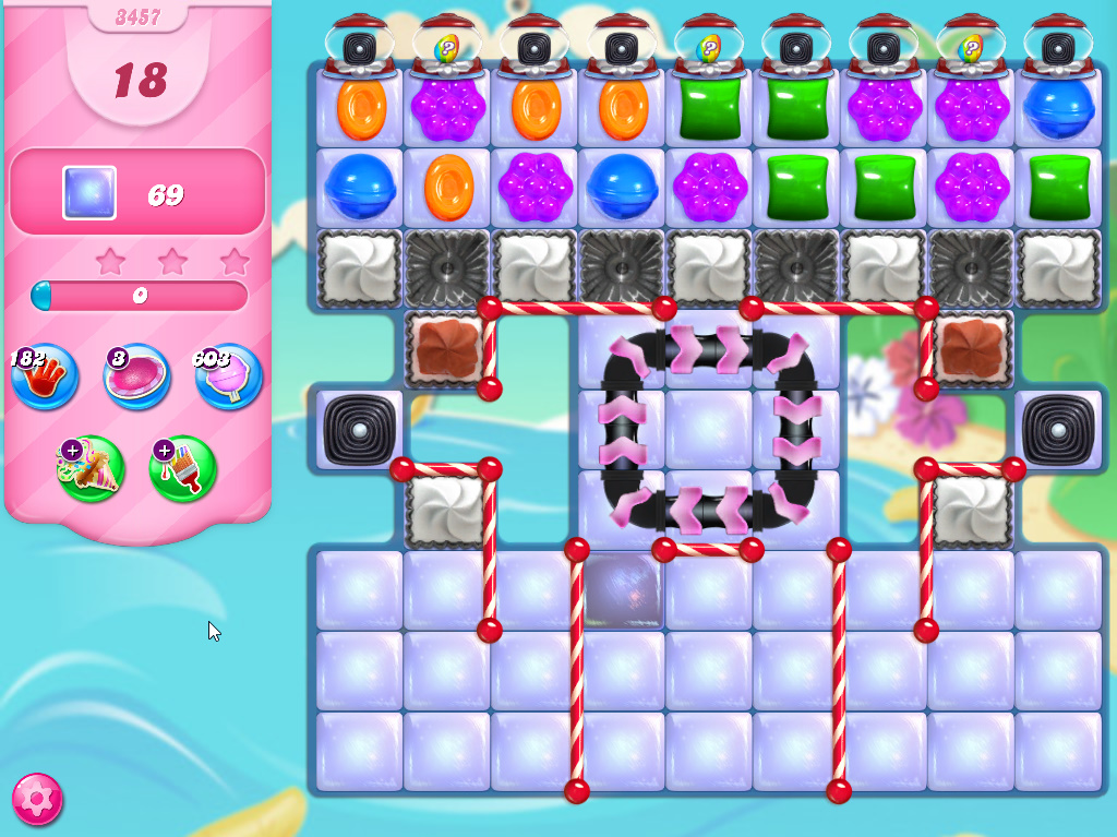 Candy Crush Saga level 3457
