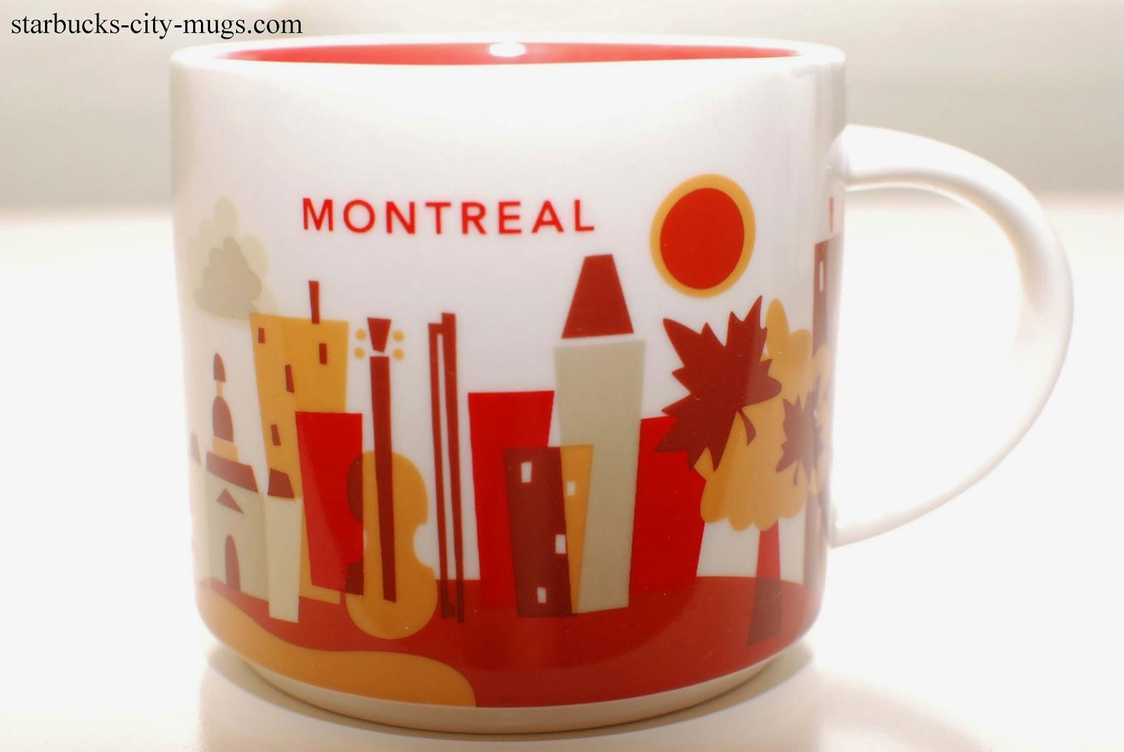 Starbucks City Mugs: Montreal You Are Here
