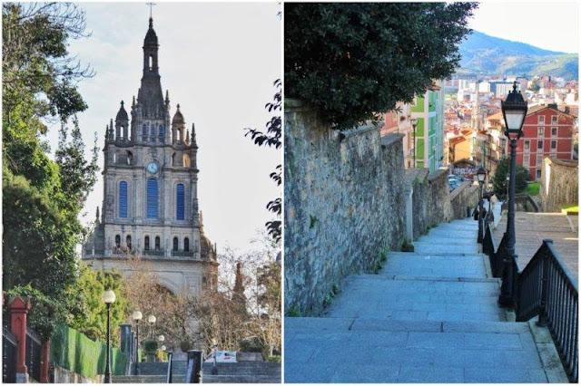 Basilica de Begona – Escalinata para subir a una de las colinas de Bilbao