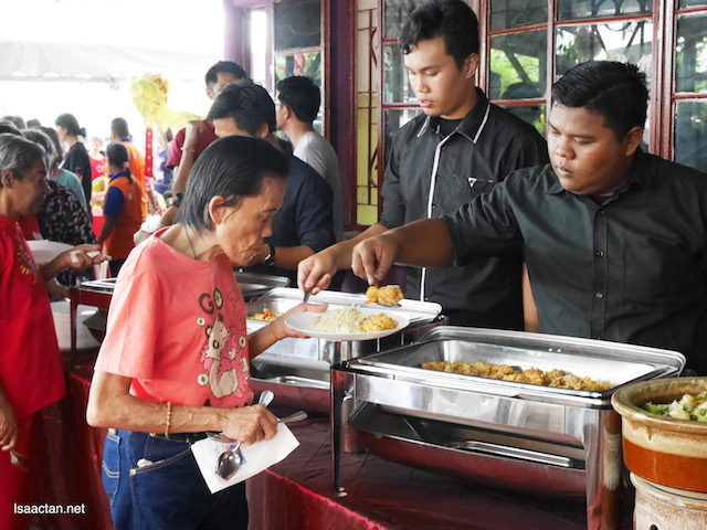 Food is served