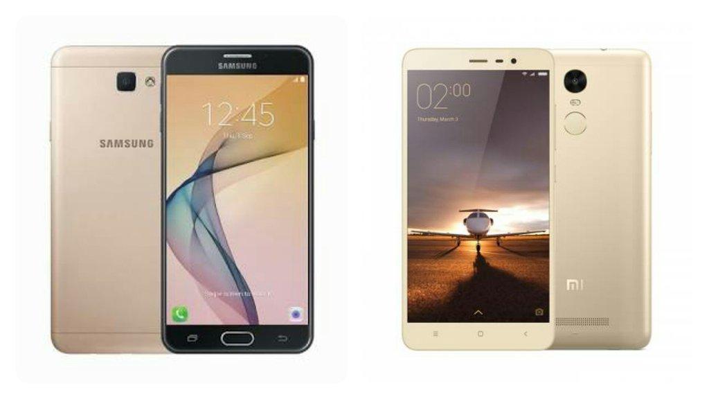 Samsung Galaxy J7 Prime Vs Xiaomi Redmi Note 3
