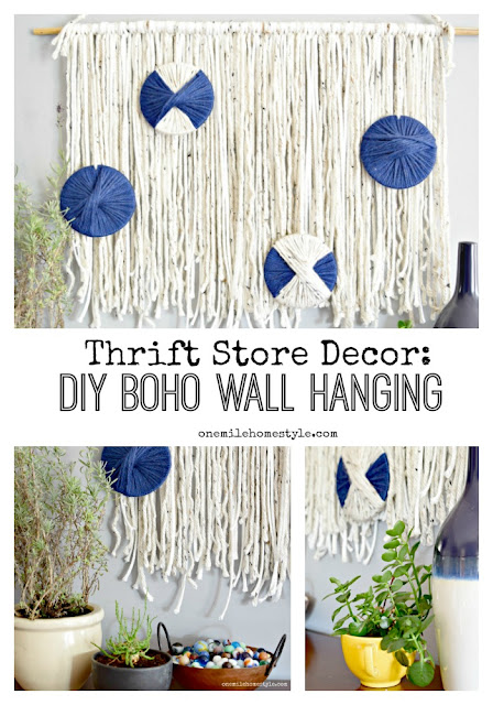 Love boho style and want to add it to your home? This is a super easy DIY project to create your own boho wall hanging!
