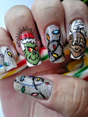 the grinch who stole christmas  nails