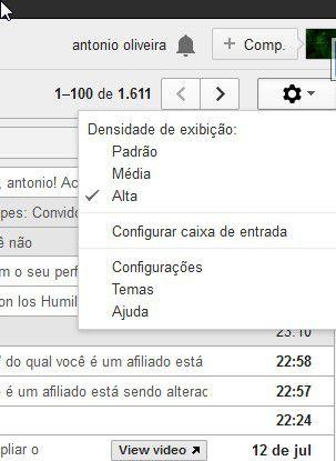 Como mudar o tema do seu Gmail e assinatura