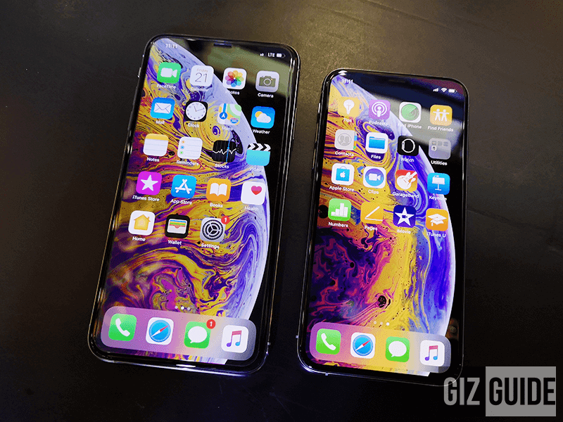 XS Max and XS size comparison