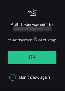 Token enviado para o email