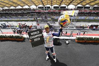 MOTO GP - Jorge Martín campeón del mundo de Moto3 y Francesco Bagnaia de Moto2