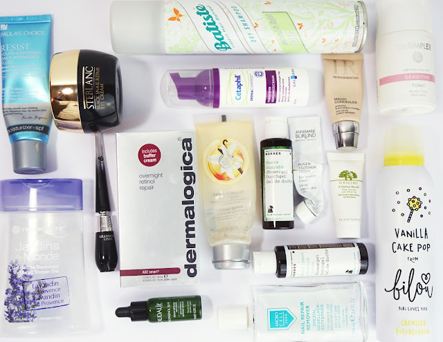 Aufgebrauchte Kosmetik - April/Mai 2017, Mizon, Batiste, Yves Rocher, Lancome, Dermalogica, Korres, Annemarie Börlind, Rimpler, Anti-Aging, Beauty, Empties