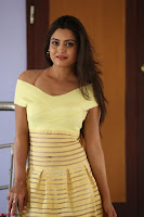 Shipra gaur in V Neck short Yellow Dress ~  032.JPG