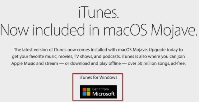 تحميل برنامج iTunes من Apple بدون استخدام متجر ويندوز 10