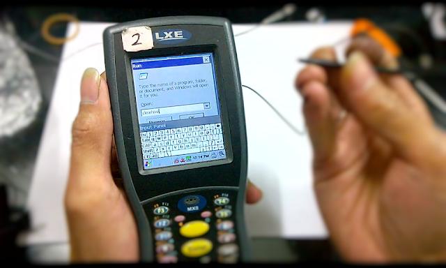 Scanner LXE MX8 error tidak bisa scan barcode