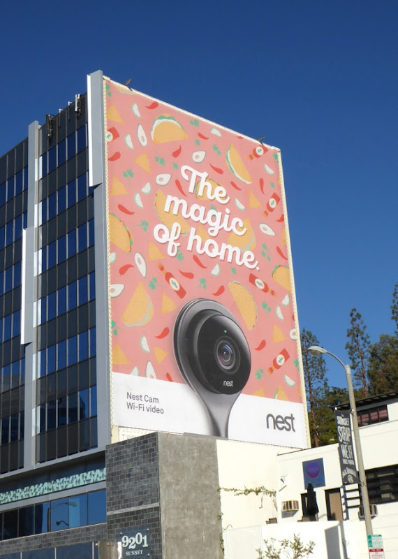 magic of home Nest Cam giant billboard