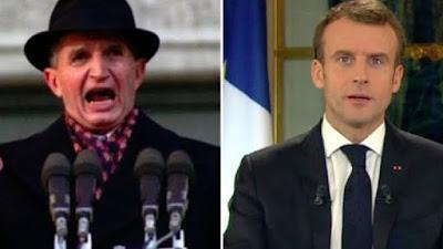 Défiance envers les médias : pourquoi un tel discrédit ? Macron-ceausescu-100-de-lei-euro-la-salariu-321982