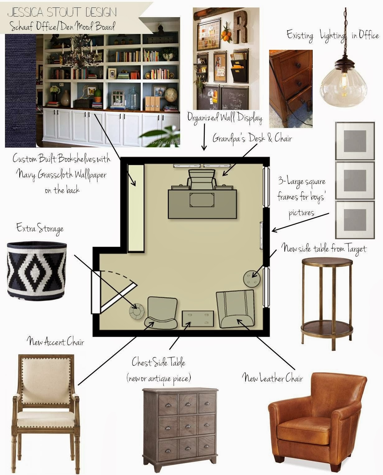 {Jessica Stout Design}: Client's Home Office {Just the ...