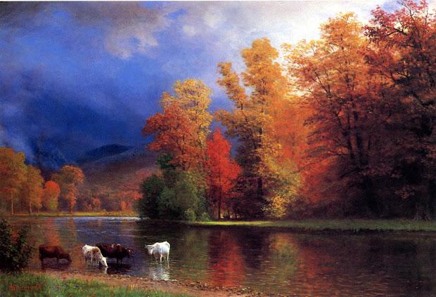 Painting On the Saco Bierstadt Albert