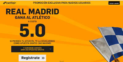 betfair Real Madrid gana Atletico supercuota 5 Liga 27 febrero