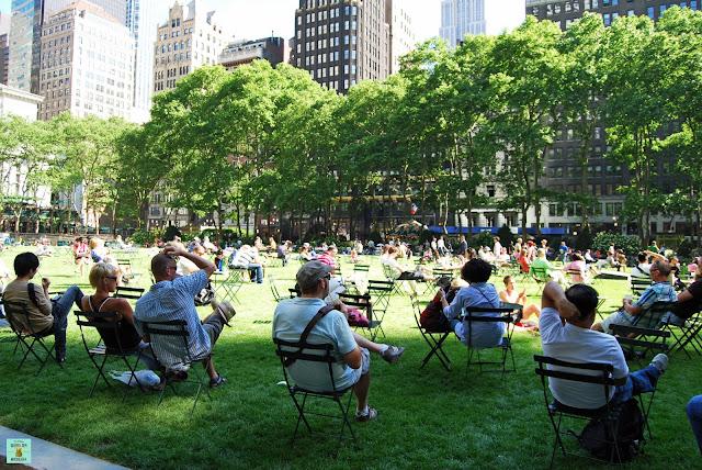 Bryant Park, planes gratis en Nueva York