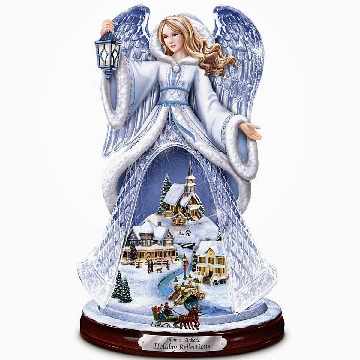 thomas kinkade online catalog - Christmas Angel Figurines