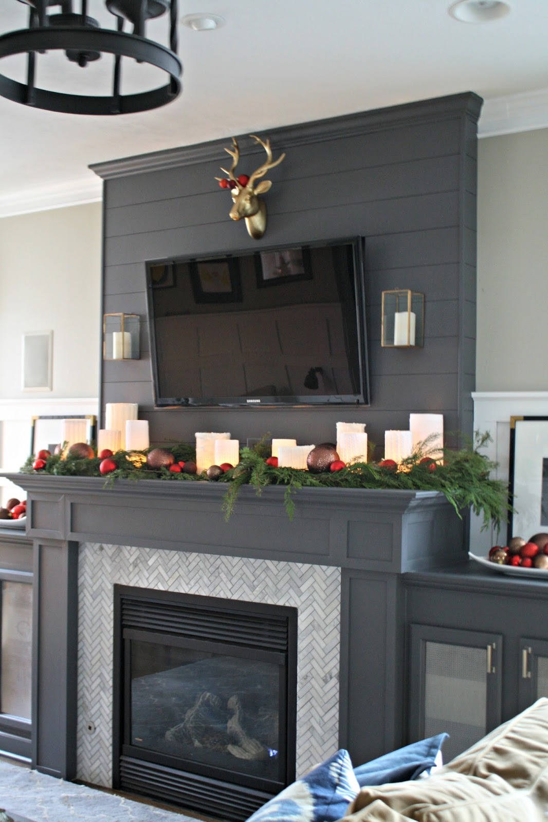 Fireplace Mantel Decor With Tv Tips For Decorating Around The Tv From Thrifty Decor Chick