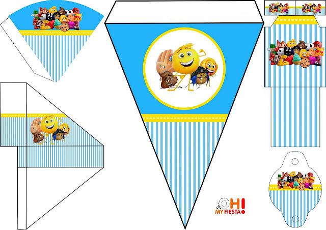Emoji: Imprimibles Gratis para Fiestas.