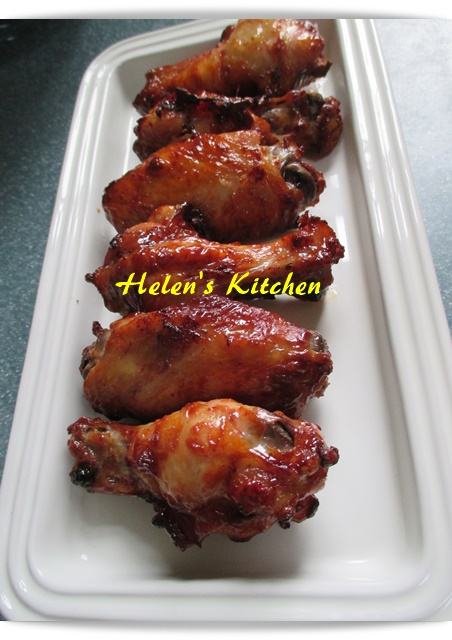 Helen's Kitchen: 自製叉燒醬蜜汁雞翼@Airfryer
