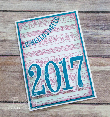 Hello 2017 - Sneak Peek Card  Get your Stampin' Up! UK paper crafting supplies here