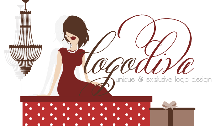 Logo Diva, Feminine Boutique Logos, Girly Girl Logo Designs, Handwritten Signature Logos