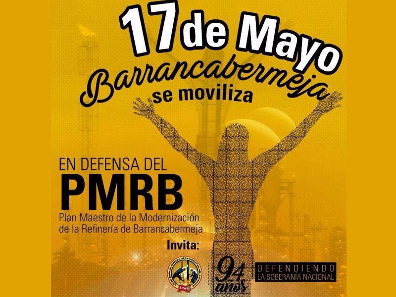 """""""Sí a la modernización, no a la chatarrización"""" de la Refinería de Barrancabermeja."""
