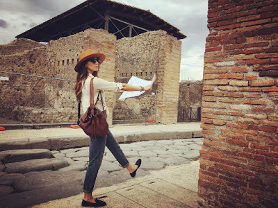 Troian Bellisario in Italy for her bachelorette party #bellisariogetsbooted