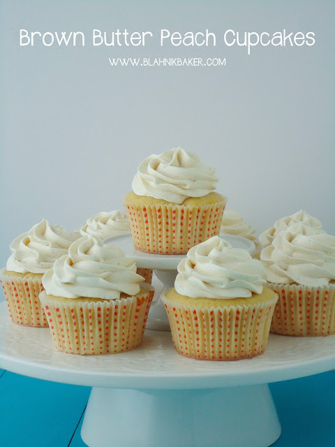 Brown Butter Peach Cupcakes via Blahnik Baker