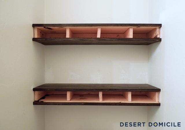 Beautiful DIY $15 Chunky Wooden Floating Shelves | Desert Domicile RT25