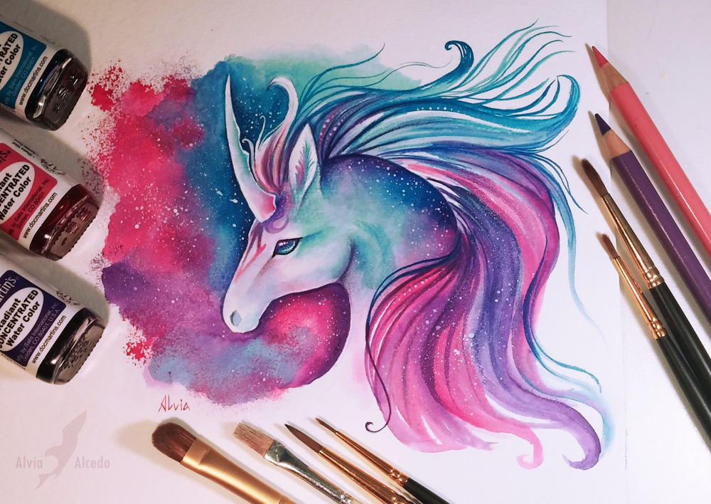 15-Space-Unicorn-Alvia-Alcedo-Dragons-and-other-Mythical-Magical-Creatures-in-Fantasy-Drawings-www-designstack-co